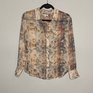 Broadway and Broome l Silk Brushstroke Button Down